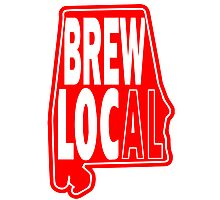 Brew Local Red Photographic Print