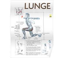 Lunge Exercise Anatomy Poster