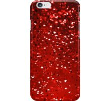 Red Sparkles iPhone Case/Skin