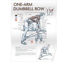 One-Arm Dumbbell Row Diagram Poster