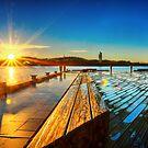 Sunrise on Lake Burley Griffin by Stuart Row