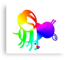 Rainbow Honey Bee SUPPORT HONEY BEES Save, Love, Enjoy Canvas Print