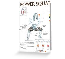 Barbell Power Squat Exercise Diagram Greeting Card