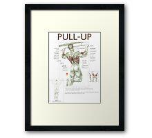 Pull-Up Exercise Diagram Framed Print