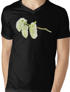 Green willow catkin watercolor painting Mens V-Neck T-Shirt