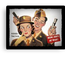 Boy and Girl Soldiers Chocolate Ad Canvas Print