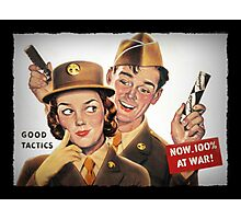 Boy and Girl Soldiers Chocolate Ad Photographic Print