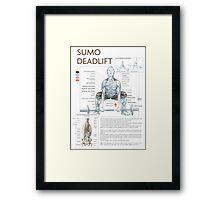 Barbell Sumo Deadlift Diagram Framed Print
