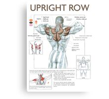 Barbell Upright Row Diagram Canvas Print