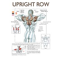 Barbell Upright Row Diagram Photographic Print