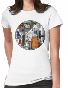 Chem Lab With Test Tubes and Retort Womens Fitted T-Shirt
