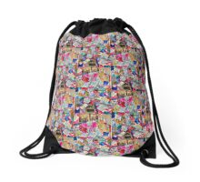 Sew Chaotic Collage  Drawstring Bag