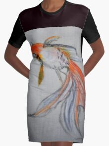 Goldfish Pond (close up #10) Graphic T-Shirt Dress