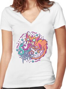 Sugar Fiend Women's Fitted V-Neck T-Shirt