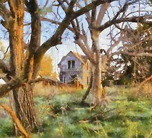 Old House Painted Card by JohncardSmith