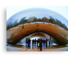 Chicago from the Bean Canvas Print