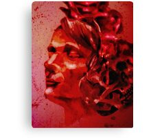 A Blood-Stained Skull Canvas Print