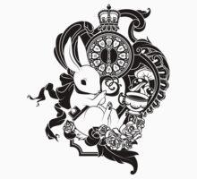 White Rabbit in Black by peppertea