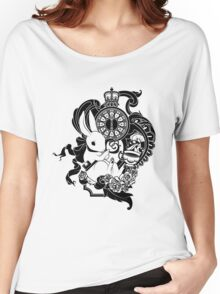 White Rabbit in Black Women's Relaxed Fit T-Shirt