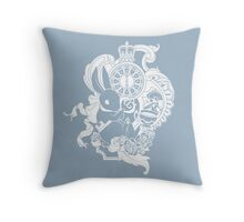 White Rabbit in White Throw Pillow