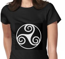 Celtic Triskele in Circle Womens Fitted T-Shirt