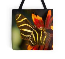 Zebra on the Flower Tote Bag