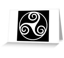 Celtic Triskele in Circle Greeting Card