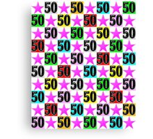 50TH PINK SUPER STAR DESIGN Canvas Print