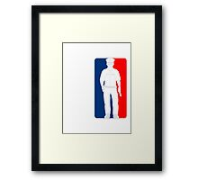 Police Sports logo red blue Framed Print
