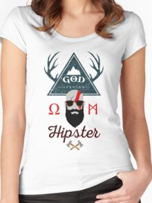 God Spartan Hipster Women's Fitted Scoop T-Shirt