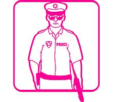 Police pink logo by Style-O-Mat