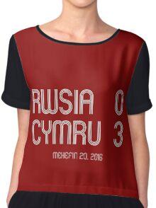 Rwsia Vs Cymru Euro 2016 Women's Chiffon Top
