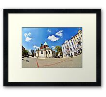 Gniezno City and Royal Cathedral, Poland Framed Print