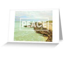 Peace Beach Greeting Card