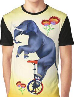 Elephant-Unicycle Graphic T-Shirt
