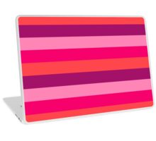 Strawberry & Cherry Pink Fashion Stripes for summer pattern { eco edition } Laptop Skin