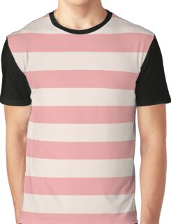 Pink and White Magic Stripes Summer Design Set Graphic T-Shirt