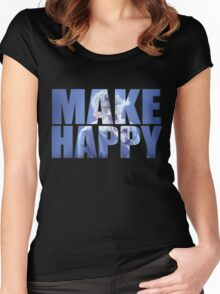 Bo Burnham - MAKE HAPPY Women's Fitted Scoop T-Shirt