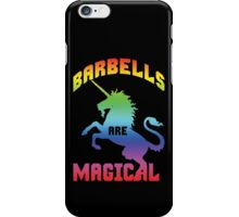 Barbells Are Magical (Unicorn Rainbow) iPhone Case/Skin