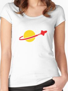 The Lego Classic Space Logo Women's Fitted Scoop T-Shirt