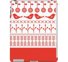 Beautiful retro Illustration with Folk motives ( red ) iPad Case/Skin