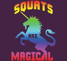 Squats Are Magical (Rainbow Unicorn) Womens Fitted T-Shirt