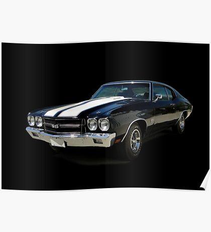 1970 Chevrolet Chevelle SS [on black] Poster