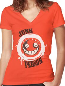 Junk Person 02  Women's Fitted V-Neck T-Shirt