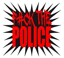 Fuck The Police Logo Design by Style-O-Mat