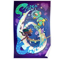 Space Unicorn Poster
