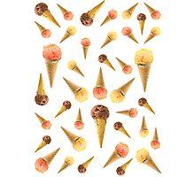 Icr Cream Cone - Random Photographic Print