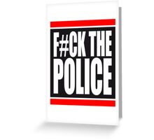 Fuck The Police Logo Greeting Card