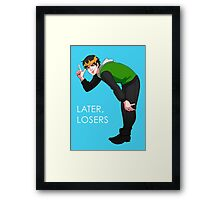Later, Losers Framed Print