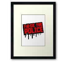 Fuck The Police Graffiti Stempel Framed Print